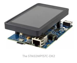 STMicroelectronics partner STM32MP157C-DK2 board capture