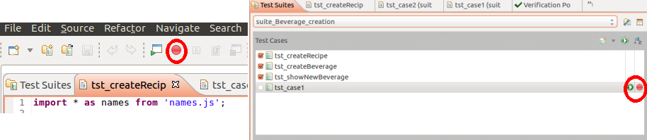 Figure 4 Record Button Automated testing framework