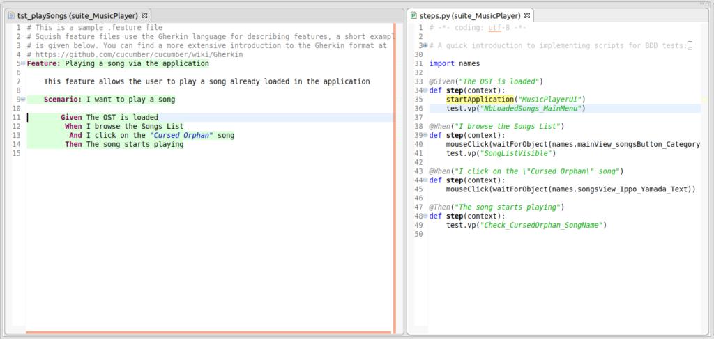 Figure 7 squish_bdd_integration Automated testing framework